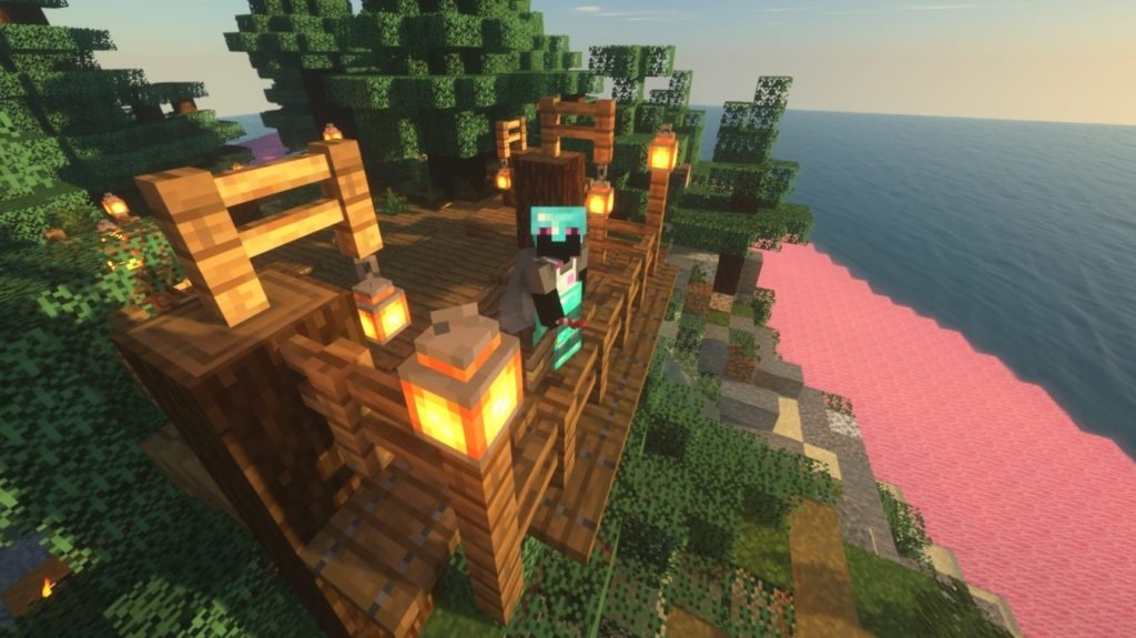 Minecraft Art Island by Hannah Jenkines