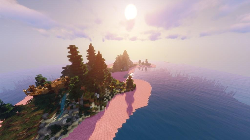 Minecraft Art Island, by Hannah Jenkins